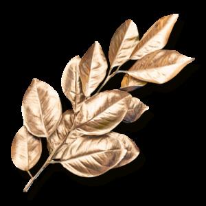 —Pngtree—golden leaf decoration material_4393306